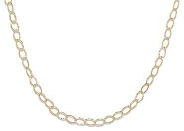 "18"" 14/20 Gold Filled Oval Textured Link Necklace"