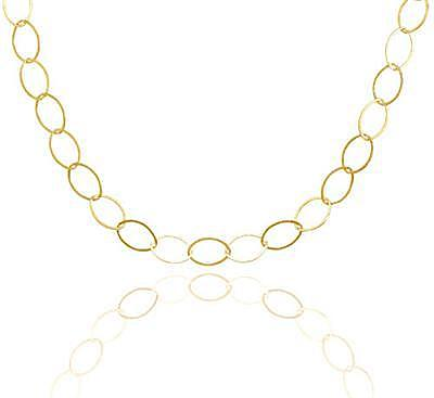 "24"" 14/20 Gold Filled Marquise Shape Link Necklace"