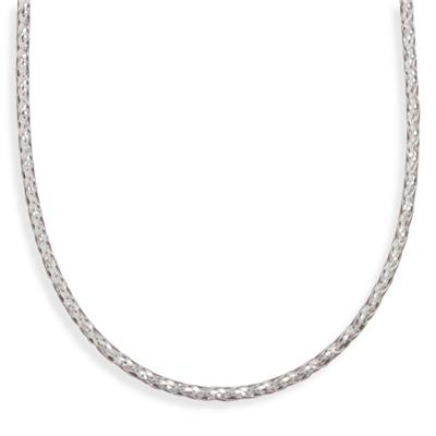 "16"" 3mm (1/8"") Braided Necklace - DISCONTINUED 925 Sterling Silver"