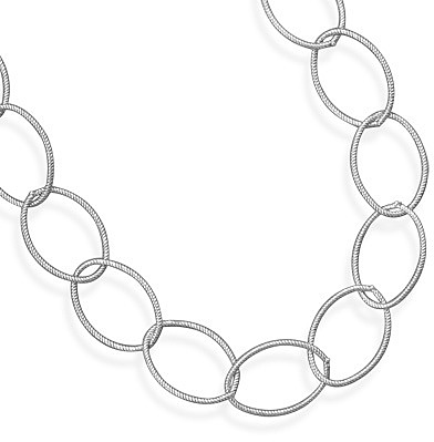"7"" Oxidized Twisted Link Bracelet 925 Sterling Silver"