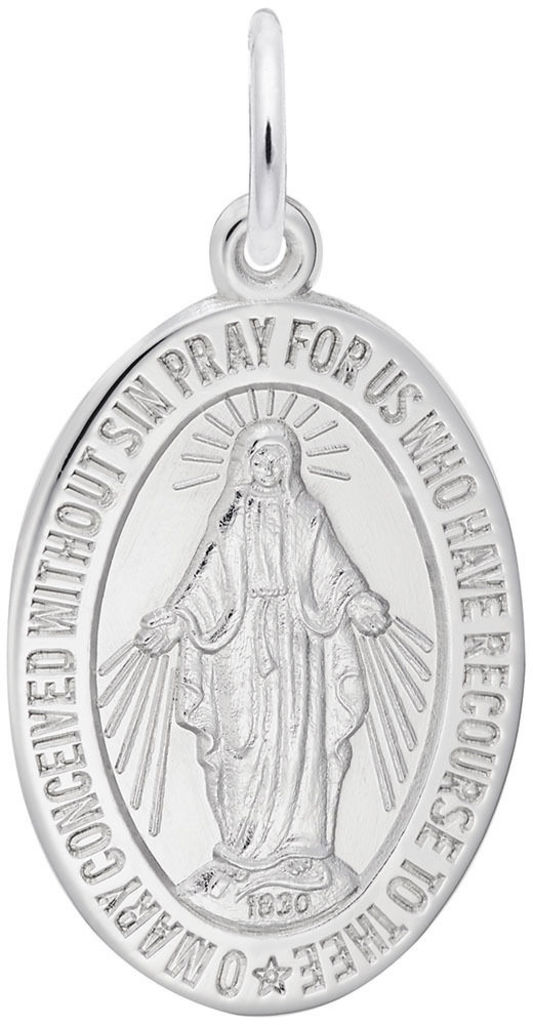 Miraculous Medal Charm (Choose Metal) by Rembrandt