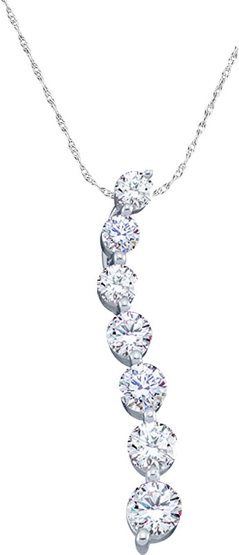 0.25ctw Diamond Journey Pendant 10K White Gold