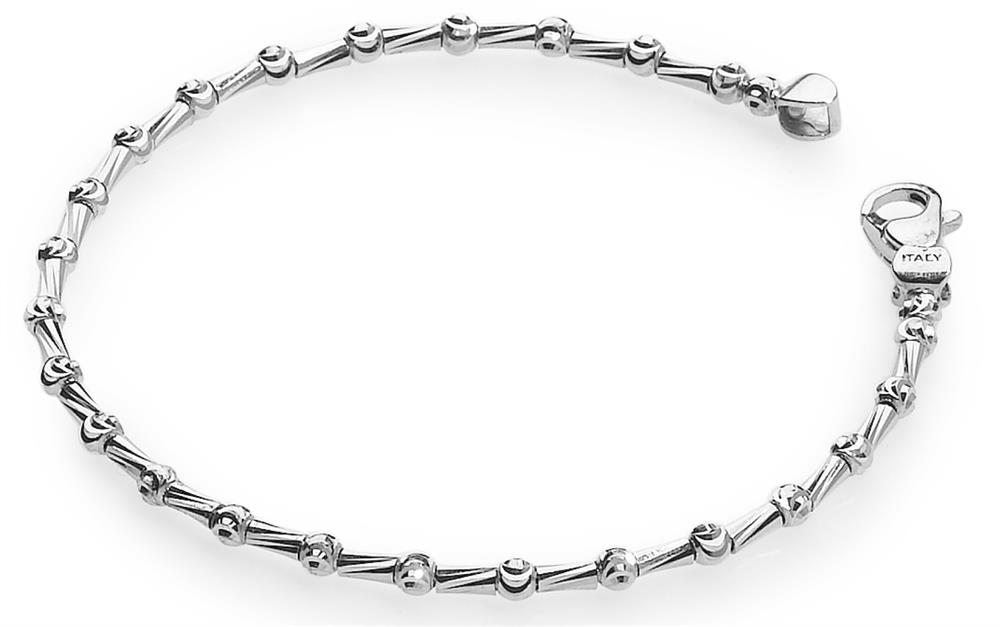 Officina Bernardi - Tube Collection - Bracelet (6 Color Choice) - Italian 925 Sterling Silver