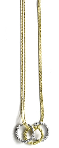 "Officina Bernardi - Interlook Collection - 16"" + 2"" Gold Plated Necklace - Italian 925 Sterling Silver"
