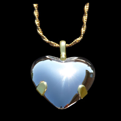 Sterling Silver Heart BioElectric Shield (85001)