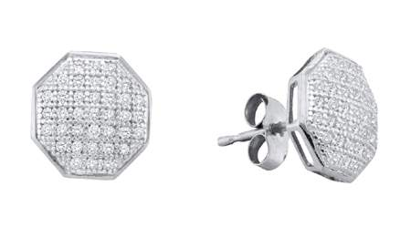 0.20ctw Diamond Micro-Pave Earrings 10K White Gold