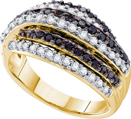 0.99ctw Black Diamond Fashion Band 14K Yellow Gold