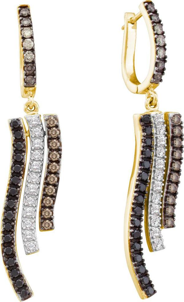 1.0ctw Brown Diamond Fashion Earrings 14K Yellow Gold