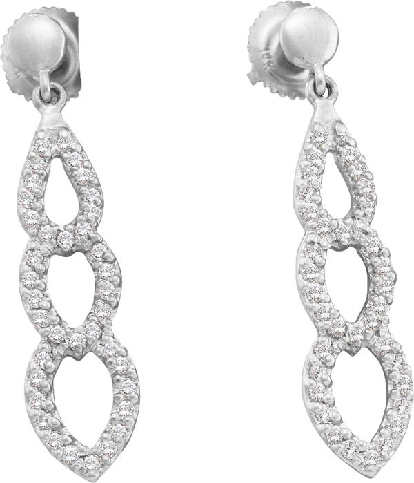 0.41ctw Diamond Fashion Earrings 14K White Gold