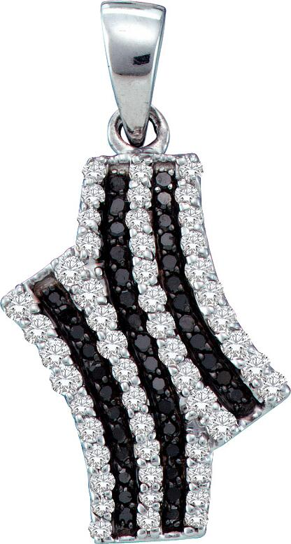 0.47ctw Black Diamond Fashion Pendant 10K White Gold