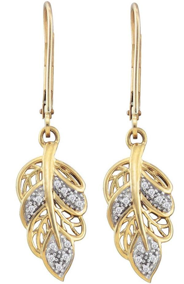 0.06ctw Diamond Fashion Earrings 10K Yellow Gold