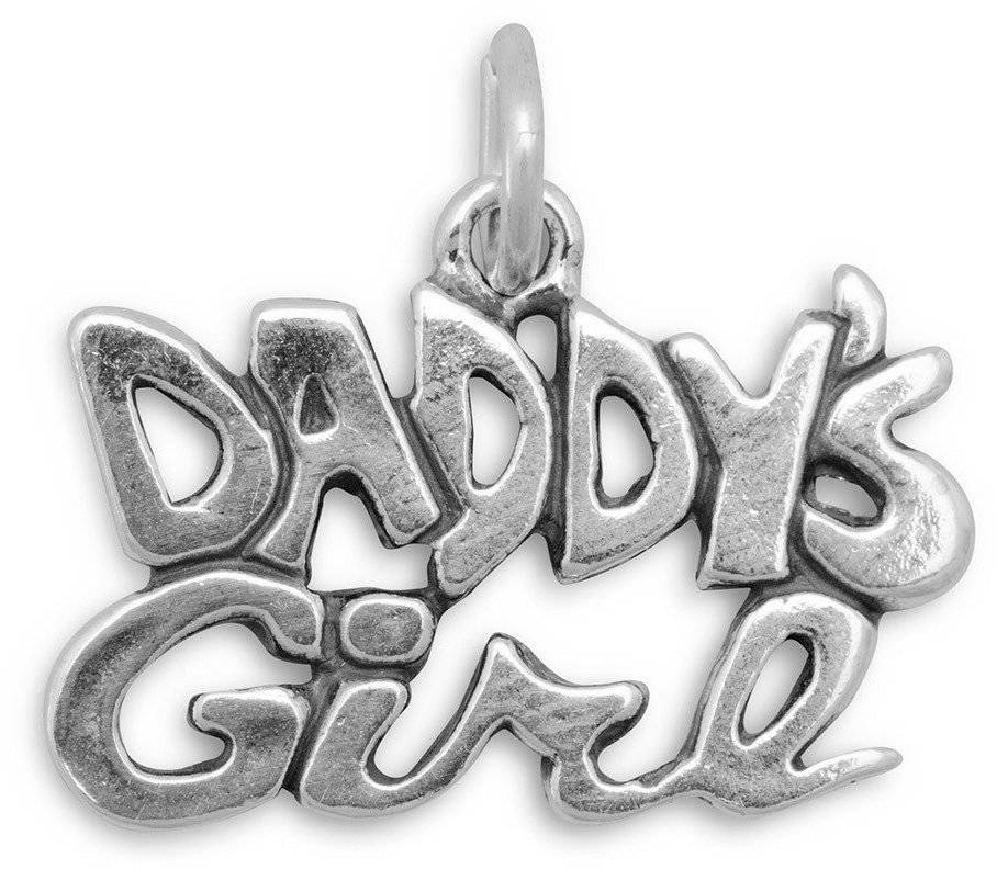 Daddy's Girl Charm 925 Sterling Silver