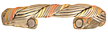Amulet Brushed - Sergio Lub Copper Magnetic Therapy Bracelet - Made in USA! (lub558) - DISCONTINUED