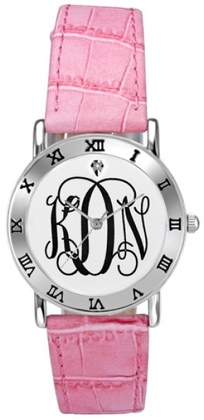 Alison & Ivy - Ladies Classic Monogram Watch 32mm - Customizable Jewelry Collection