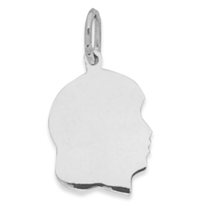 Girl Silhouette Charm 925 Sterling Silver - DISCONTINUED