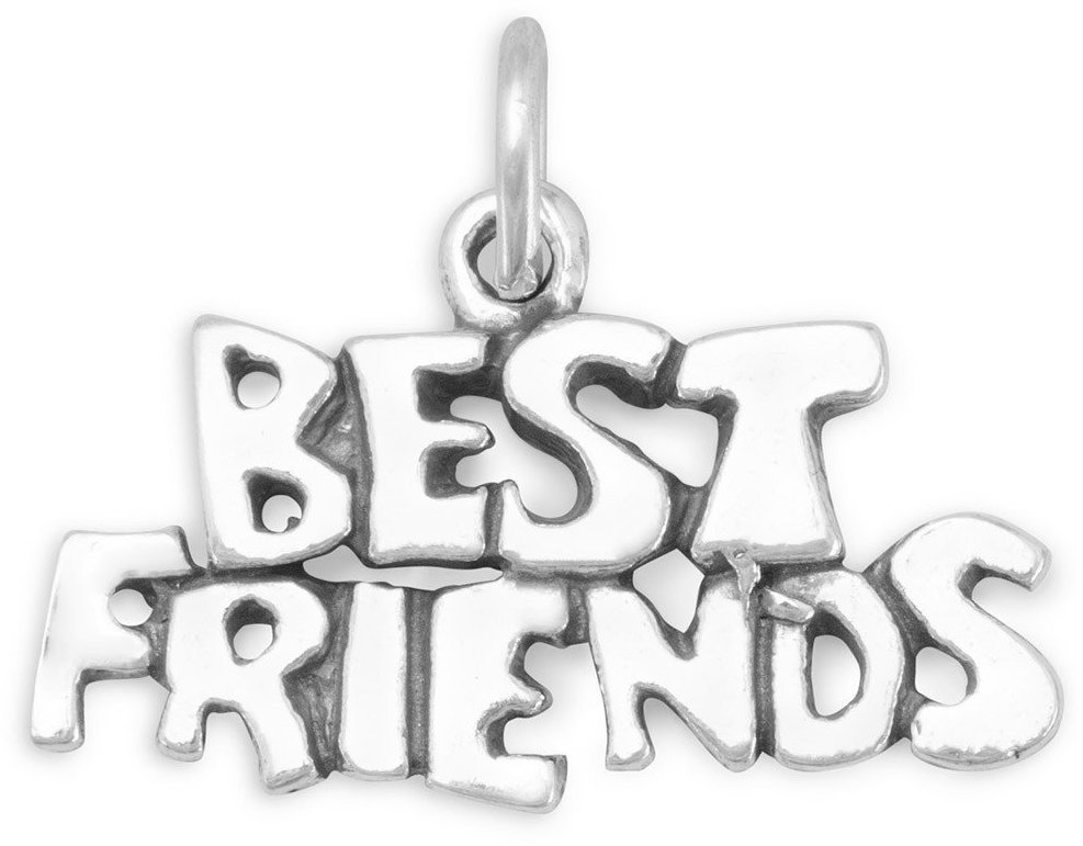 Best Friends Charm 925 Sterling Silver