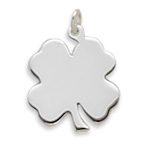 Engravable Shamrock Pendant 925 Sterling Silver - DISCONTINUED