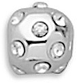 Ball Slide with CZs 925 Sterling Silver