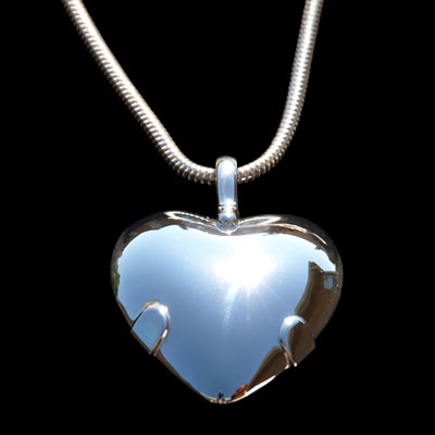 ADD Heart Focusing BioElectric Shield Sterling Silver (86004)