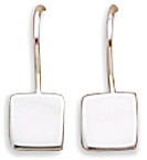 "8mm (1/3"") Square Engravable Earrings on French Wire 925 Sterling Silver - DISCONTINUED"