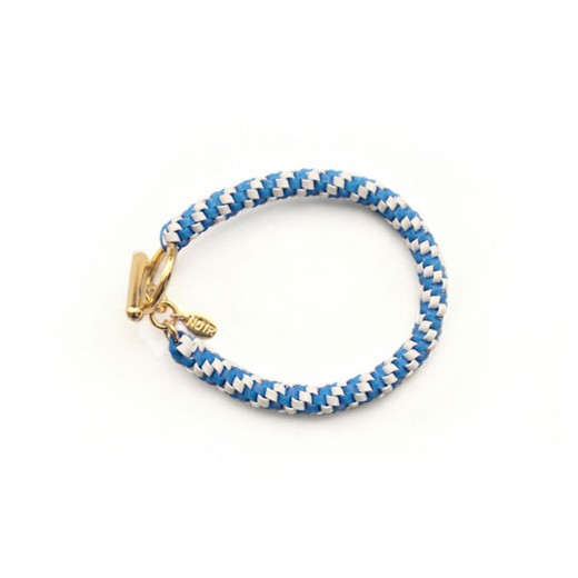 nOir Jewelry - Shaka Lanyard Bracelet - Light Blue/White Combination - DISCONTINUED