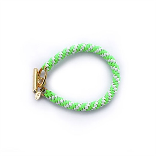 nOir Jewelry - Shaka Lanyard Bracelet - Green/White Combination - DISCONTINUED