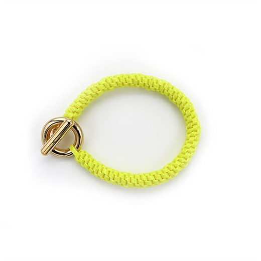 nOir Jewelry - Shaka Lanyard Bracelet - Neon Yellow - DISCONTINUED
