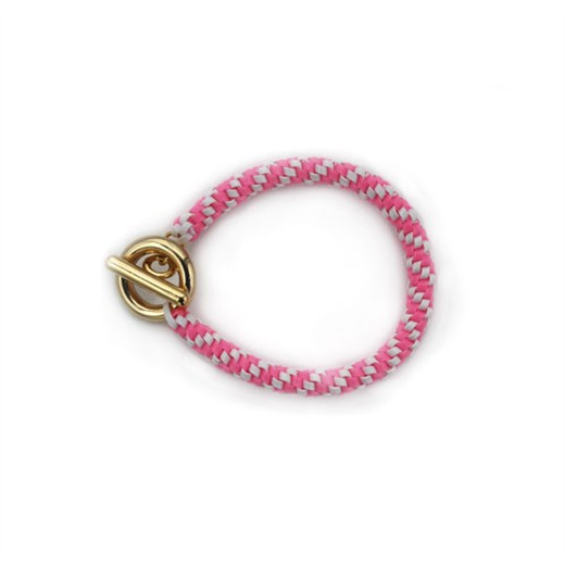 nOir Jewelry - Shaka Lanyard Bracelet - Pink/White Combination - DISCONTINUED
