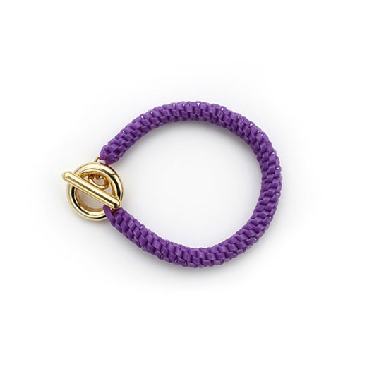 nOir Jewelry - Shaka Lanyard Bracelet - Purple - DISCONTINUED