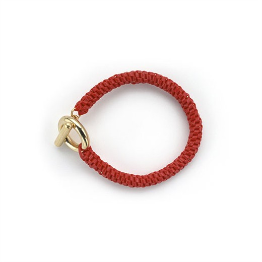 nOir Jewelry - Shaka Lanyard Bracelet - Red - DISCONTINUED