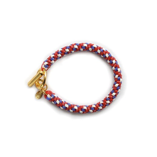 nOir Jewelry - Shaka Lanyard Bracelet - Red/White/Royal Blue Combination - DISCONTINUED