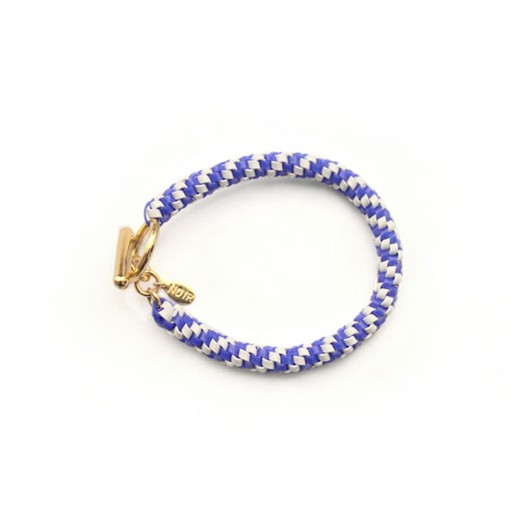 nOir Jewelry - Shaka Lanyard Bracelet - Royal Blue/White Combination