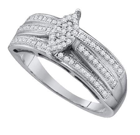 0.25ctw Diamond Micro-Pave Ring 10K White Gold Bridal