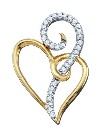 0.10ctw Diamond Heart Pendant 10K Yellow Gold