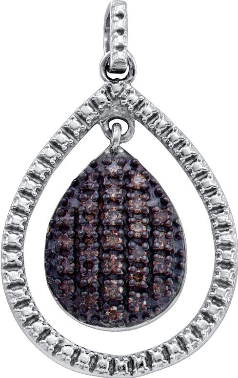 0.40ctw Brown Diamond Fashion Pendant 925 Sterling Silver