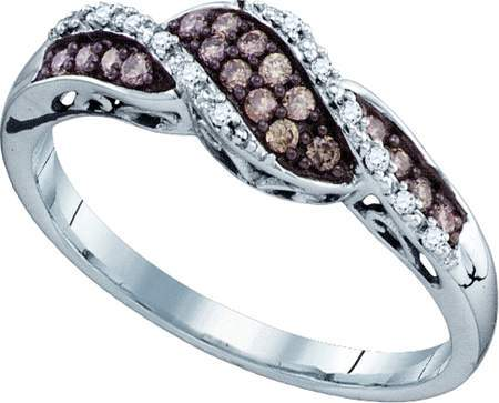 0.21ctw Brown Diamond Fashion Ring 10K White Gold