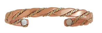 Caduceus - Sergio Lub Copper Magnetic Therapy Bracelet - Made in USA!