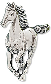 Galloping Horse Slide 925 Sterling Silver