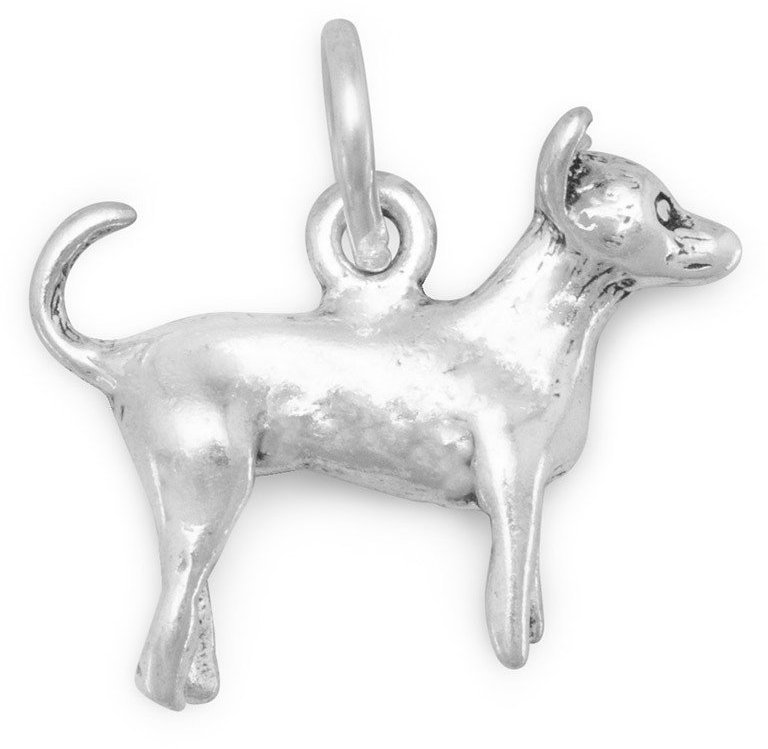 Chihuahua Charm 925 Sterling Silver
