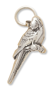 Scarlet Macaw Charm 925 Sterling Silver - DISCONTINUED