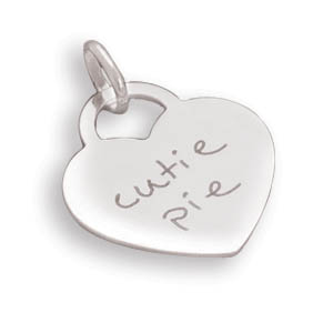 "Heart Pendant with ""cutie pie"" 925 Sterling Silver - DISCONTINUED"