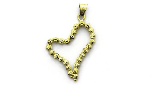 Officina Bernardi - Pendant Collection - Gold Plated Heart - Italian 925 Sterling Silver