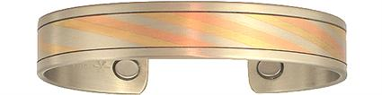 Mokume Gane - Sergio Lub Copper Magnetic Therapy Bracelet - Made in USA! (lub759)