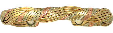 Golden Hair - Sergio Lub Copper Magnetic Therapy Bracelet - Made in USA! (lub758) - DISCONTINUED