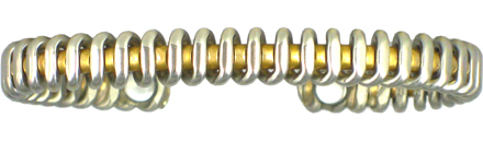 Silver Coil - Sergio Lub Copper Magnetic Therapy Bracelet - Made in USA! (lub761) - DISCONTINUED