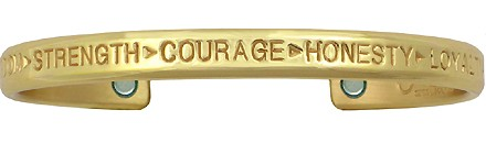 Courage Brass - Sergio Lub Copper Magnetic Therapy Bracelet - Made in USA! (lub781)
