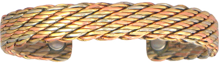 Life's Tapestry - Sergio Lub Copper Magnetic Therapy Bracelet - Made in USA! (lub783)