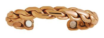 Copper Chain - Sergio Lub Copper Magnetic Therapy Bracelet - Made in USA! (lub794)