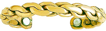 Golden Chain - Sergio Lub Copper Magnetic Therapy Bracelet - Made in USA! (lub795)