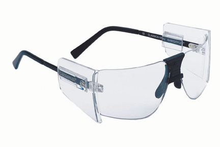 Gargoyles Sunglasses - 85's Black with Clear Lens and Side Shields - Protective Collection - Discontinued